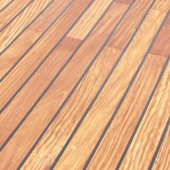 Un plancher en bois spécial salle d'eau