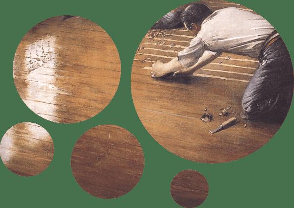 Tableau Les Raboteurs de parquet de Gustave Caillebotte