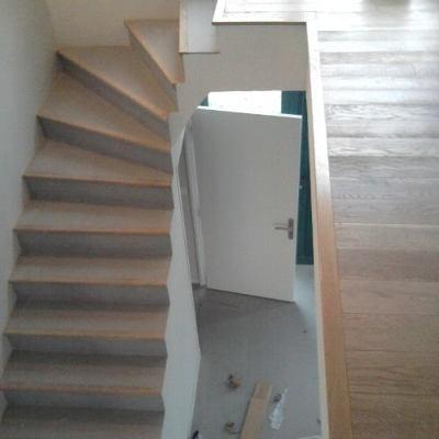 Rénovation d'escalier en chêne