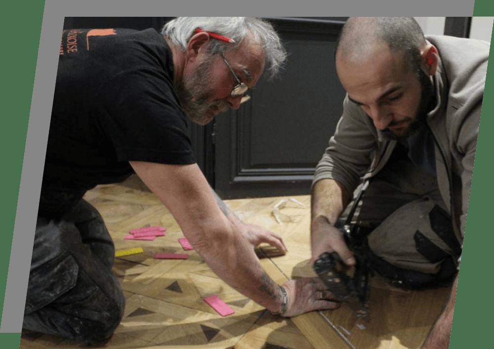 Menuisiers poseurs de plancher en bois