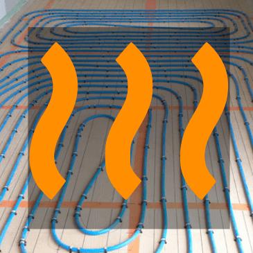 Un plancher en bois compatible avec un chauffage au sol.